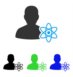 Physicist science flat icon vector
