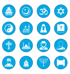 Religion icon blue vector