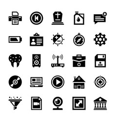 Responsive user interface icons vector