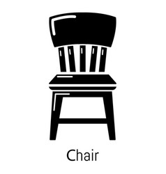 retro chair icon simple black style vector image
