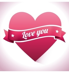Romantic colorful card design with pink hearts vector image