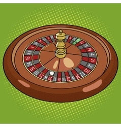 Roulette in casino pop art style vector image