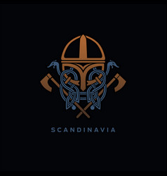 scandinavia viking design vector image
