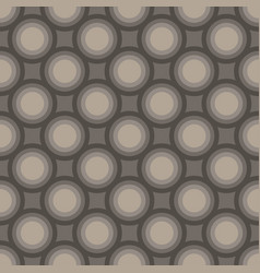 seamless art abstract mosaic dark gray circles vector image
