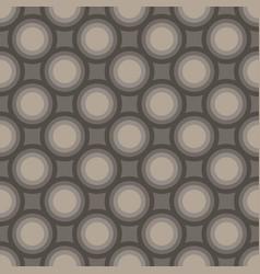 Seamless art abstract mosaic dark gray circles vector