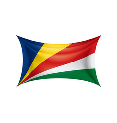 seychelles flag on a white vector image