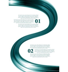 Smooth wave abstract flyer design vector