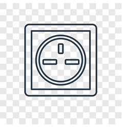 socket concept linear icon isolated on vector image