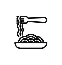spaghetti icon vector image
