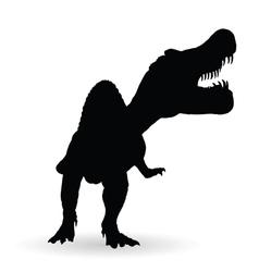 spinosaurus black silhouette vector image