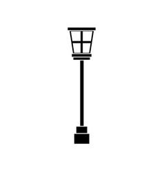 street lamp post light decoration vintage vector image