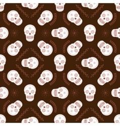 Sugar skull seamless pattern vector