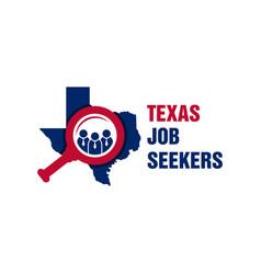 texas job search logo vector image