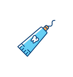 Toothpaste tube flat thin vector