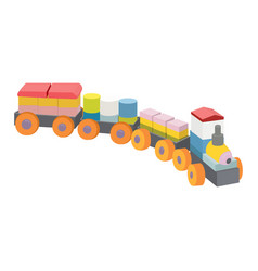 Toy train icon on a white background kids vector
