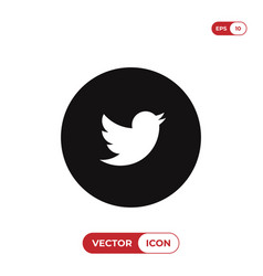twitter bird logo icon social media smybol vector image