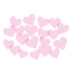 Valentines day background with transparent hearts vector image vector image