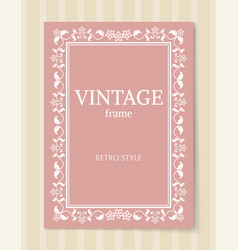 vintage frame retro style ornamental graphic decor vector image