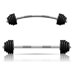 Weights against white background vector