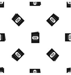 wine list pattern seamless black vector image