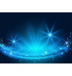 Background with Sparkling Stream Effect vector image vector image
