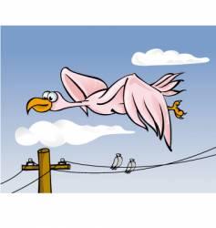 big bird flying vector image vector image