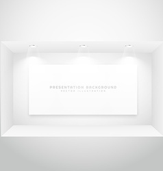 display window with presentation picture frame vector image vector image