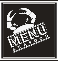 sea food design vector image