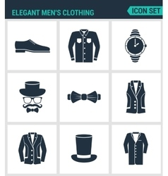 Set of modern icons Elegant men s clothing vector image