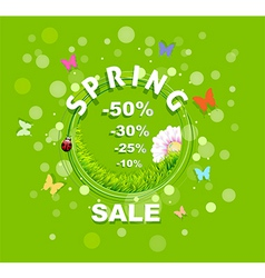 Spring Sale discount background vector image vector image