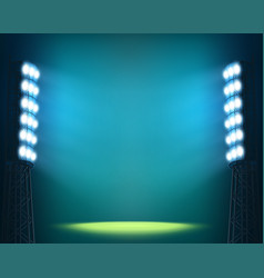 stadium lights against dark night sky background vector image vector image