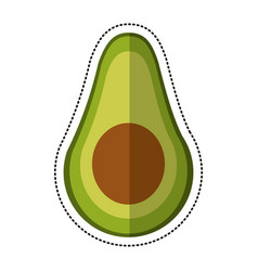 cartoon avocado harvest nutrition icon vector image vector image