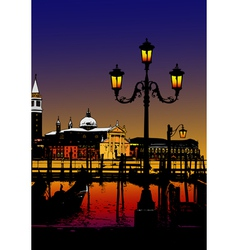 Fable of Venice vector image vector image
