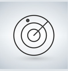 radar screen airport icon isolated vector image
