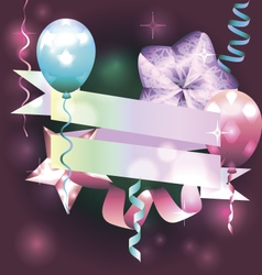 Template for invitation birthday card postcard vector image