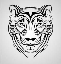 Tiger Head Tribal vector image vector image