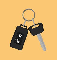 car key with remote control icon in flat style on vector image