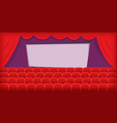 cinema movie horizontal banner hall cartoon style vector image vector image