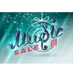 Music christmas sale vector image vector image