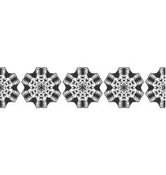 snowflake christmas seamless pattern circular vector image