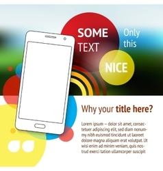 Website or page design with mobile phone vector image vector image