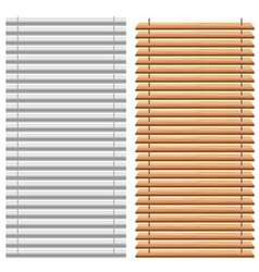 Blinds set vector image vector image