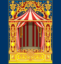 carnival poster vintage circus theme vector image vector image