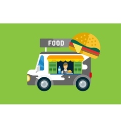 Fast food car icon Meat grilled product hot dogs vector image vector image