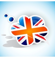 Flag of the United Kingdom Speech bubble vector image vector image