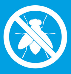 no fly sign icon white vector image vector image