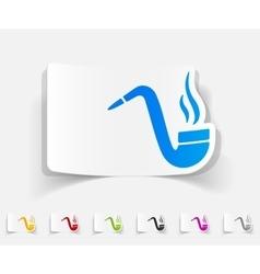 realistic design element tobacco pipe vector image