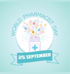 25 september world pharmacist day vector