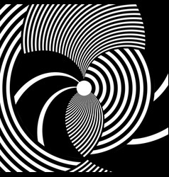 abstract circle striped pattern vector image
