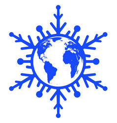 abstract globe snowflake vector image